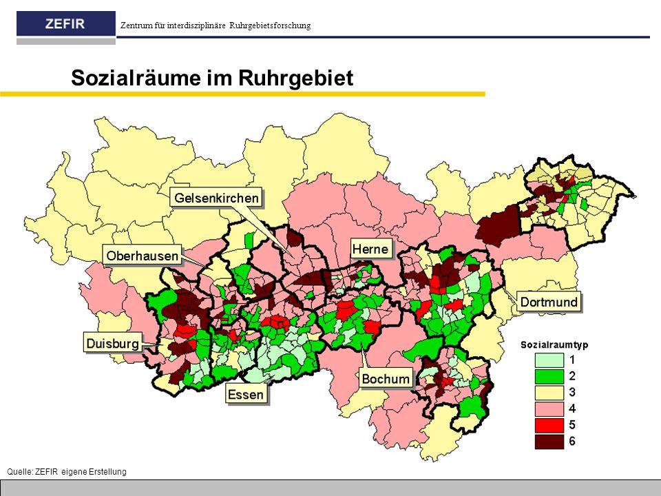 Sozialräume im Ruhrgebiet