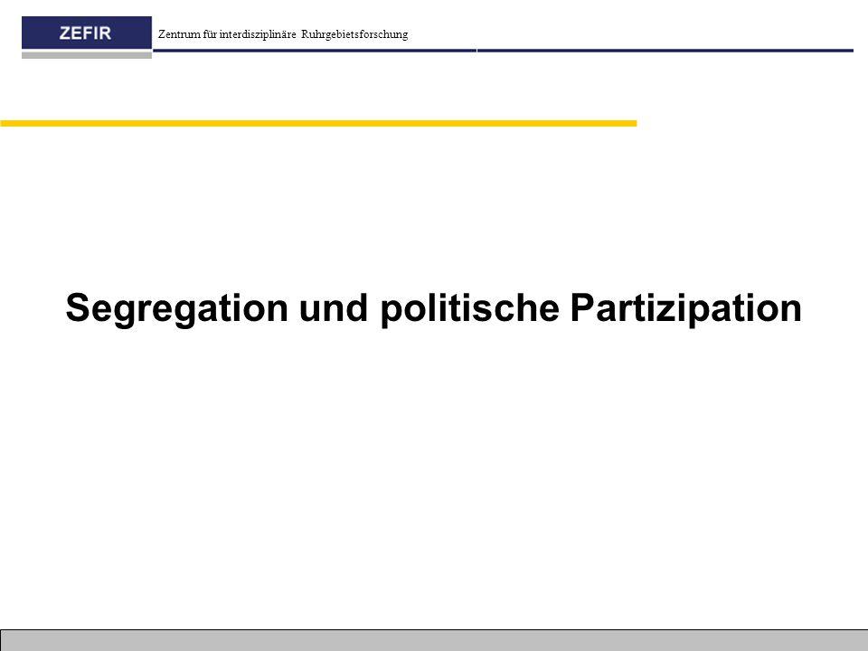 Segregation und politische Partizipation