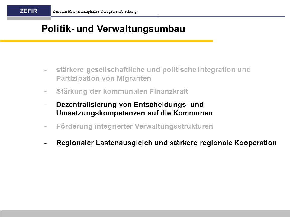 Politik- und Verwaltungsumbau