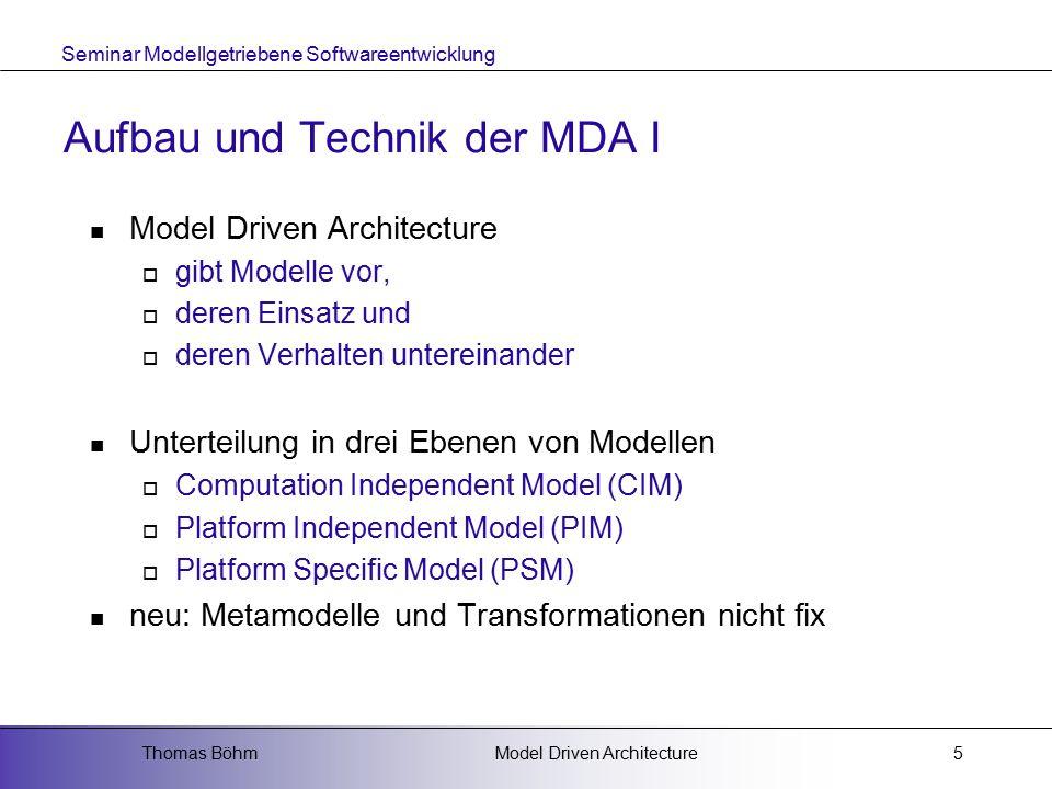 Aufbau und Technik der MDA I