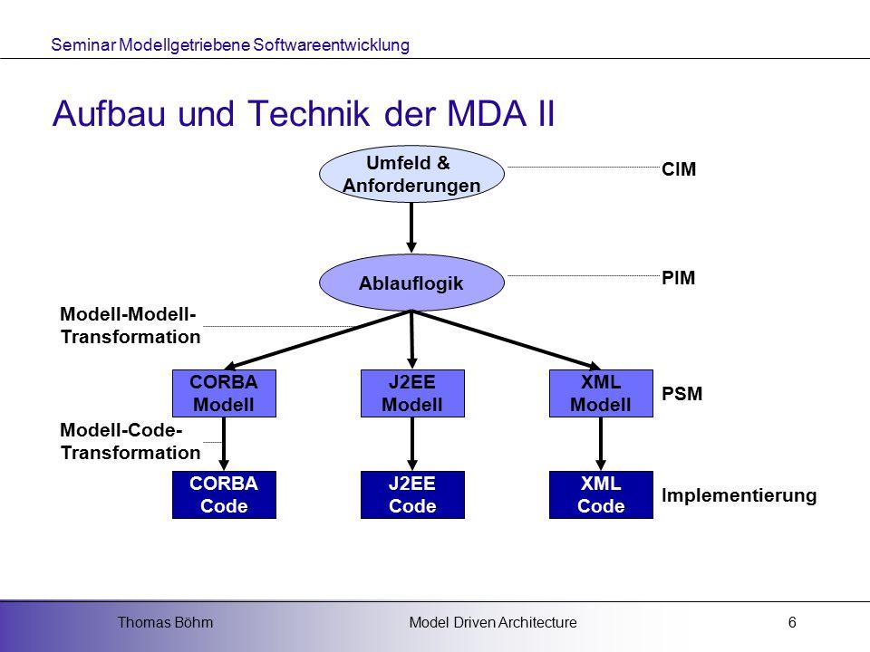 Aufbau und Technik der MDA II