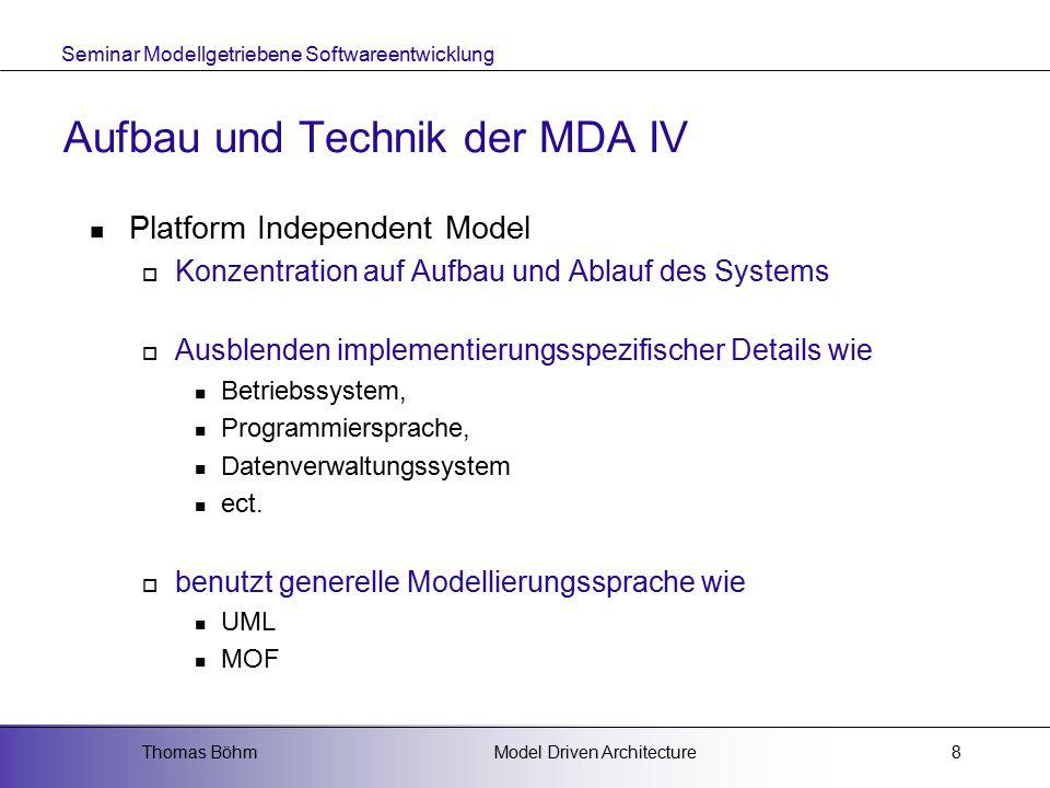 Aufbau und Technik der MDA IV