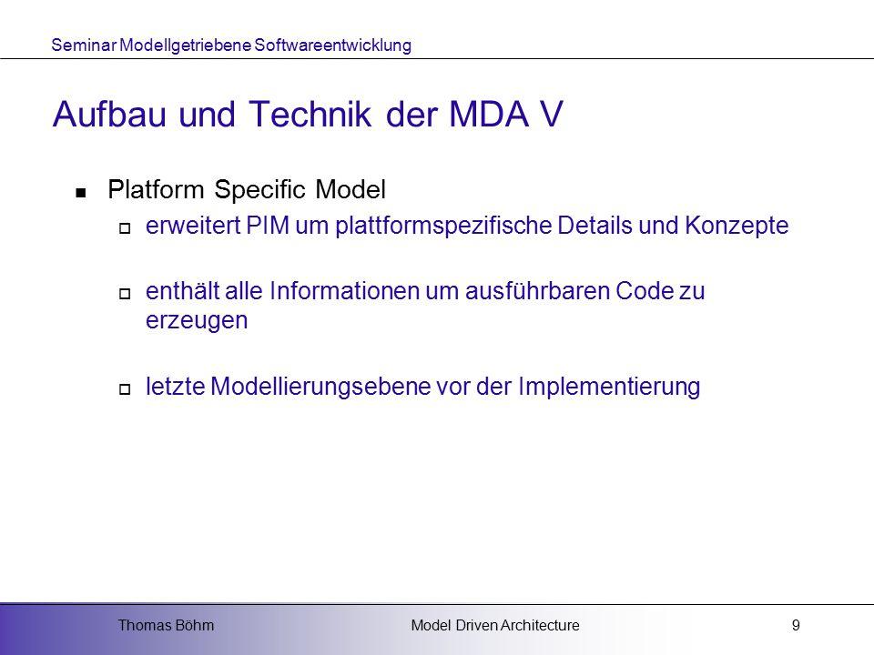 Aufbau und Technik der MDA V