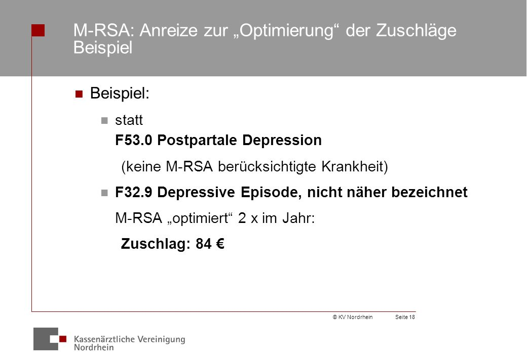 """M-RSA: Anreize zur """"Optimierung der Zuschläge Beispiel"""