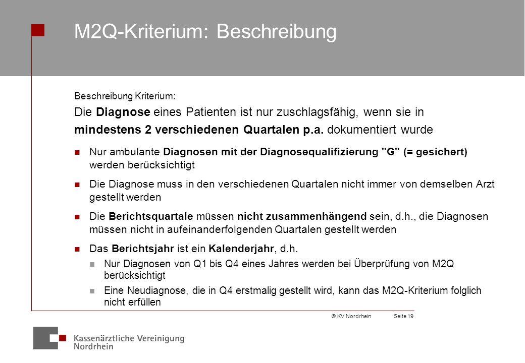 M2Q-Kriterium: Beschreibung