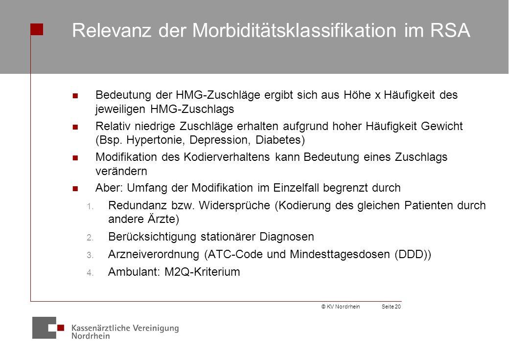 Relevanz der Morbiditätsklassifikation im RSA