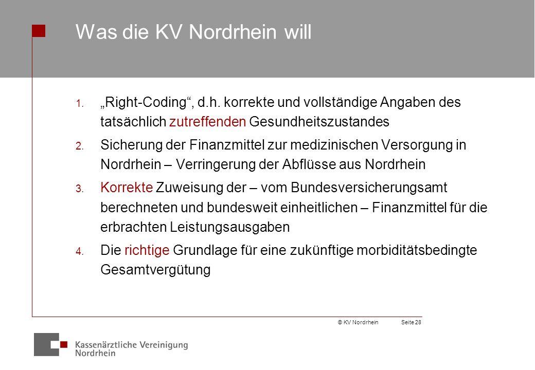 Was die KV Nordrhein will