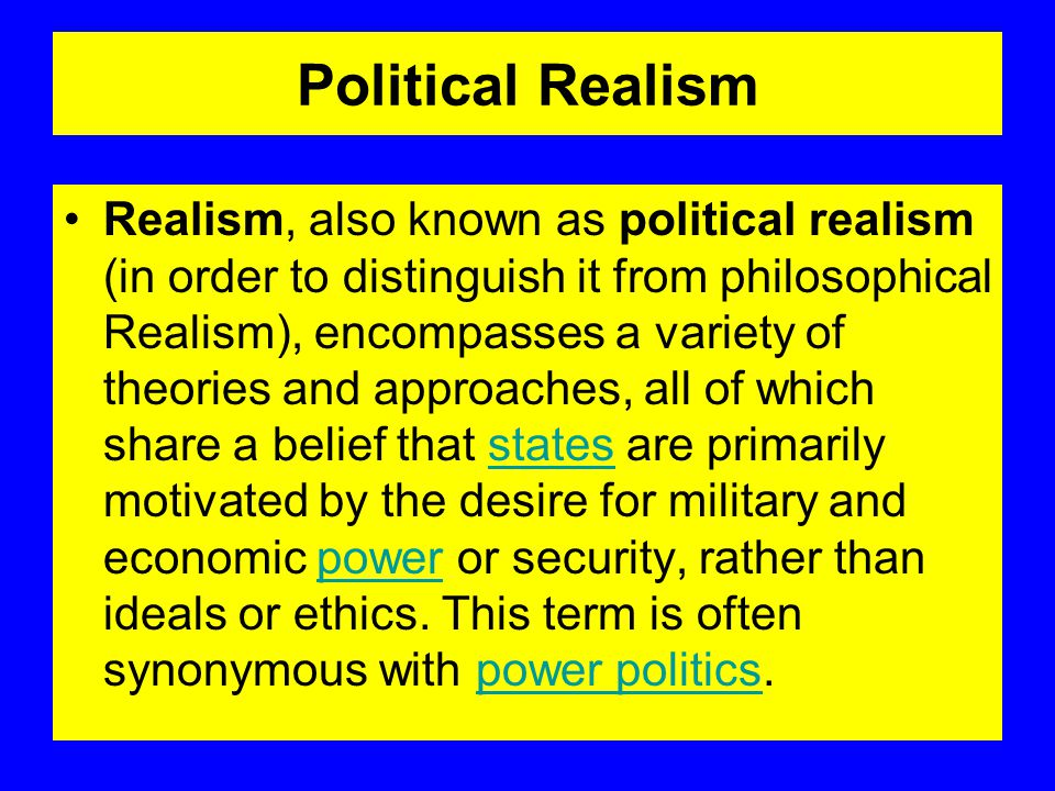 Political Realism