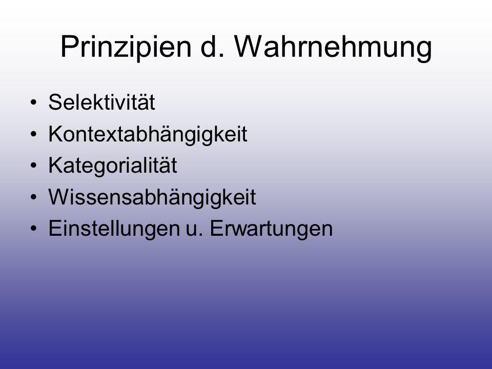 Prinzipien d. Wahrnehmung