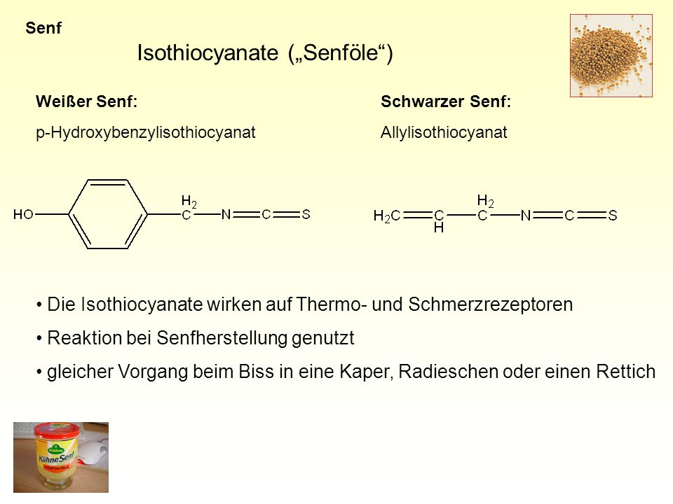 "Isothiocyanate (""Senföle )"