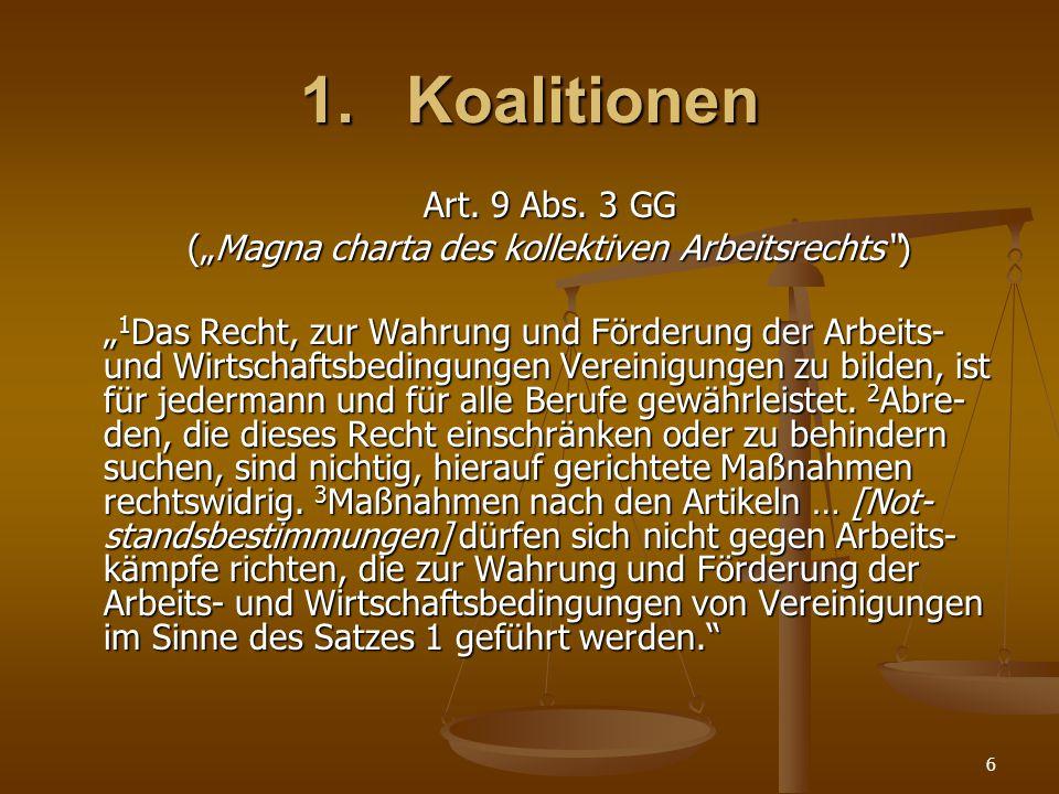 "(""Magna charta des kollektiven Arbeitsrechts )"