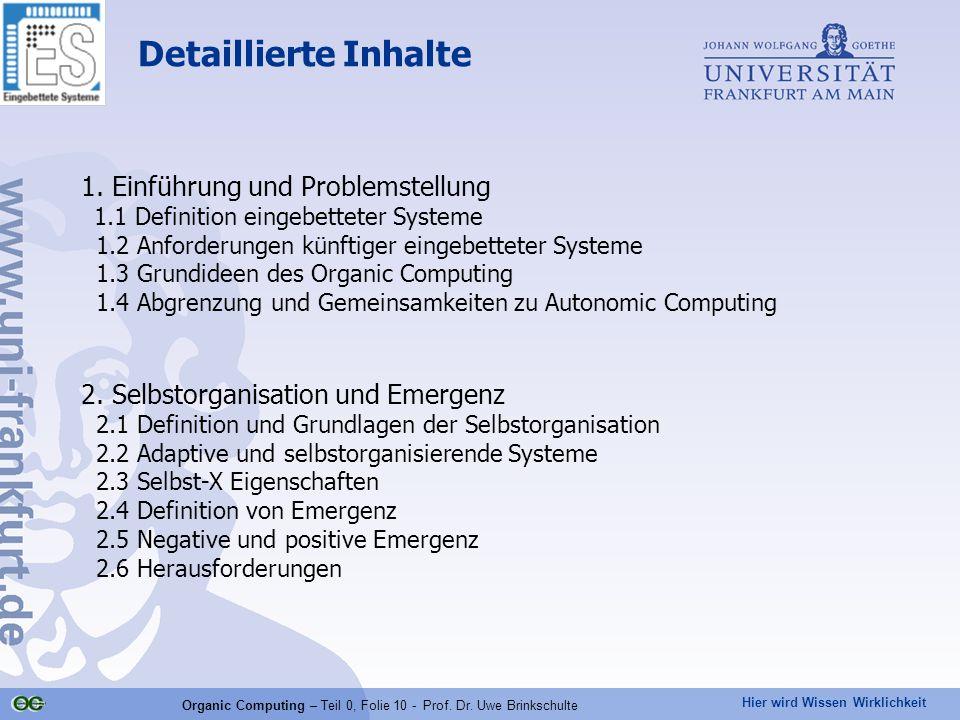Organic Computing – Teil 0, Folie 10 - Prof. Dr. Uwe Brinkschulte