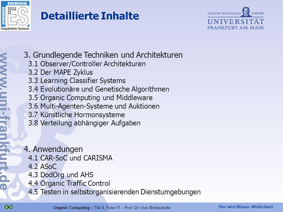 Organic Computing – Teil 0, Folie 11 - Prof. Dr. Uwe Brinkschulte
