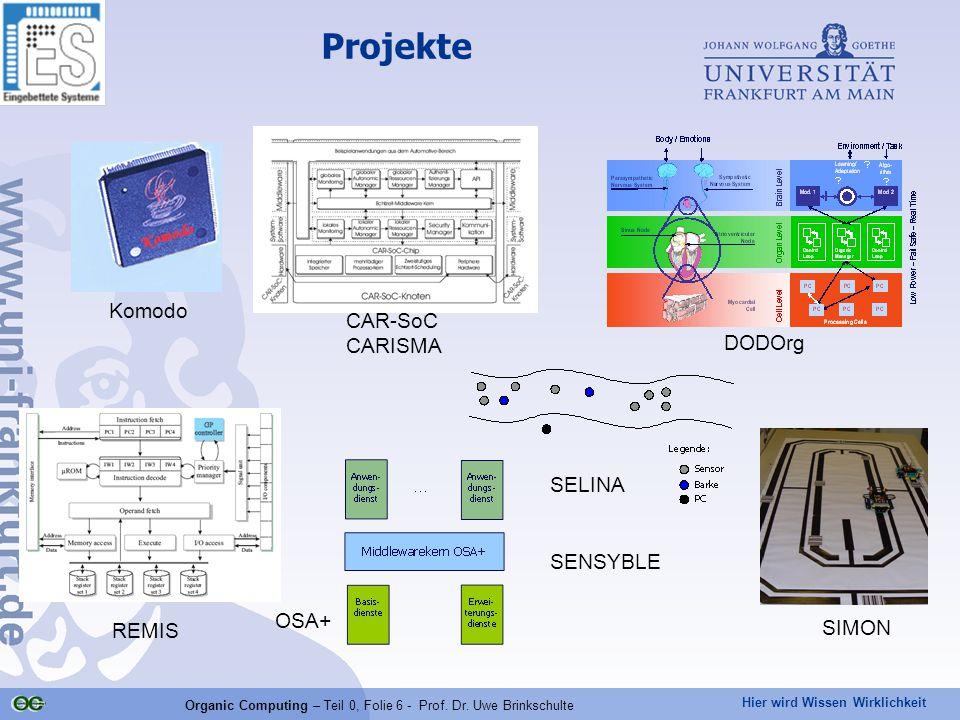Organic Computing – Teil 0, Folie 6 - Prof. Dr. Uwe Brinkschulte