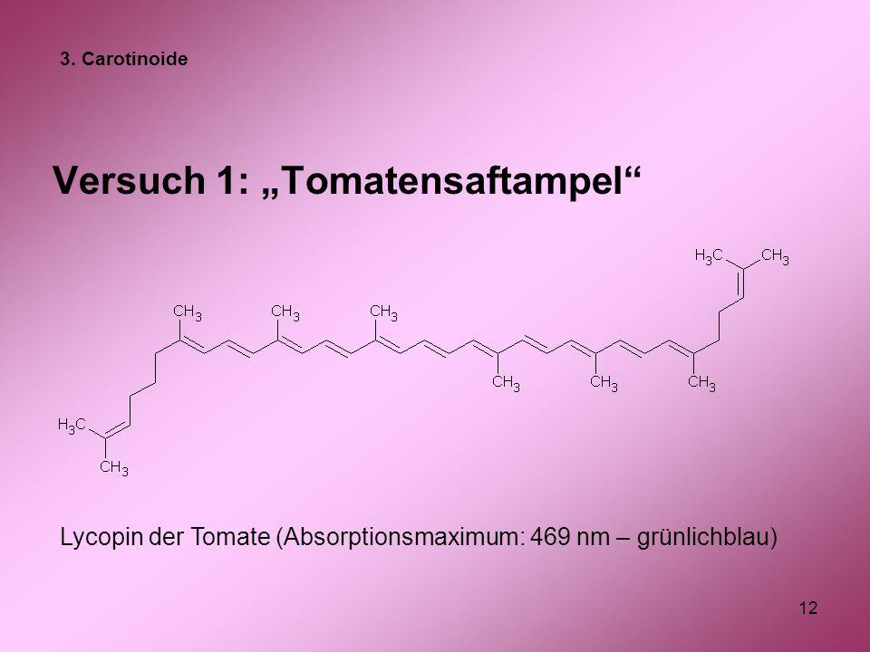 """Versuch 1: """"Tomatensaftampel"""