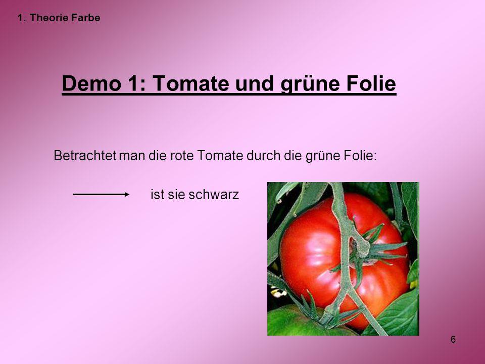 Demo 1: Tomate und grüne Folie