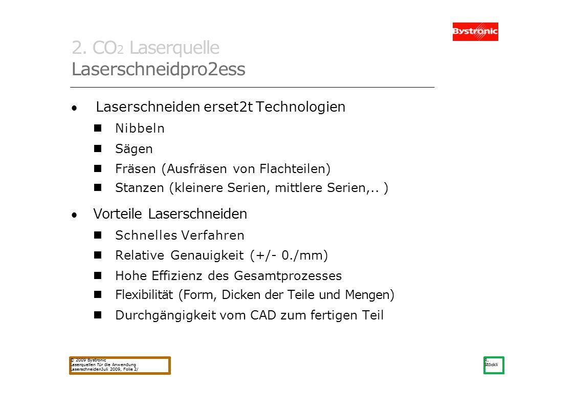 2. CO2 Laserquelle Laserschneidpro2ess