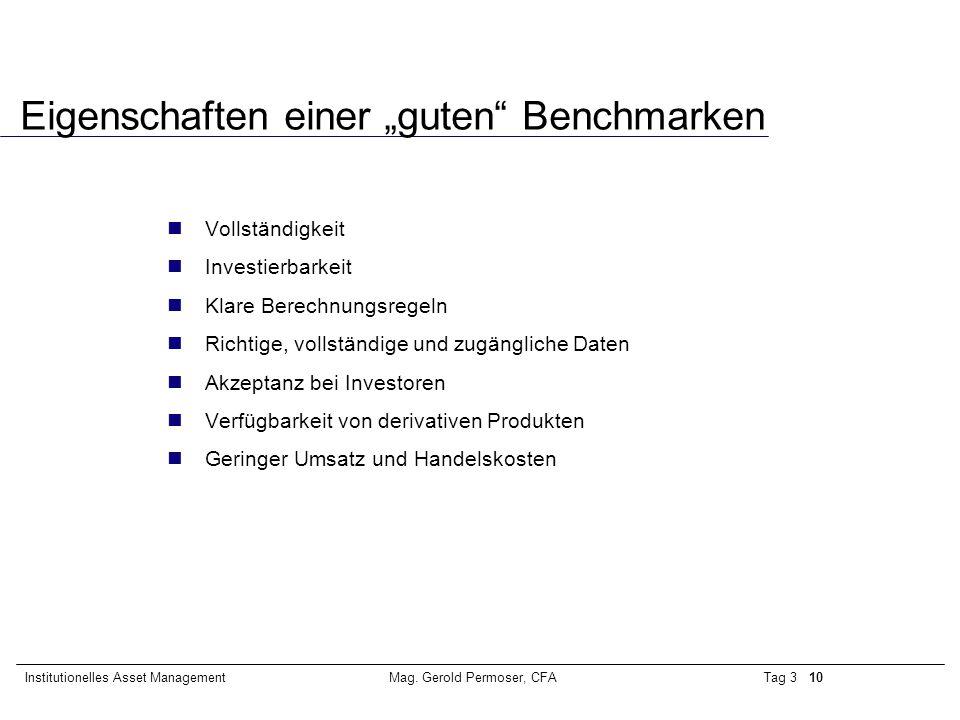"""Eigenschaften einer """"guten Benchmarken"""