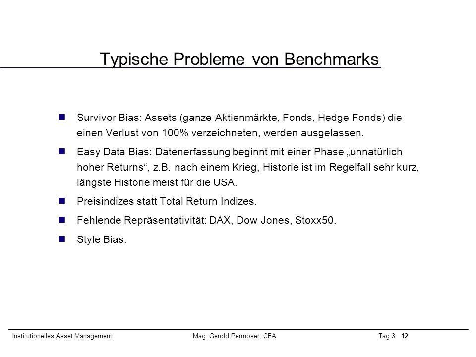 Typische Probleme von Benchmarks