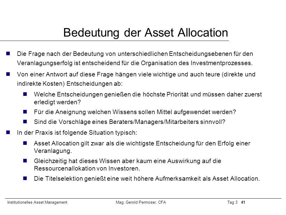 Bedeutung der Asset Allocation