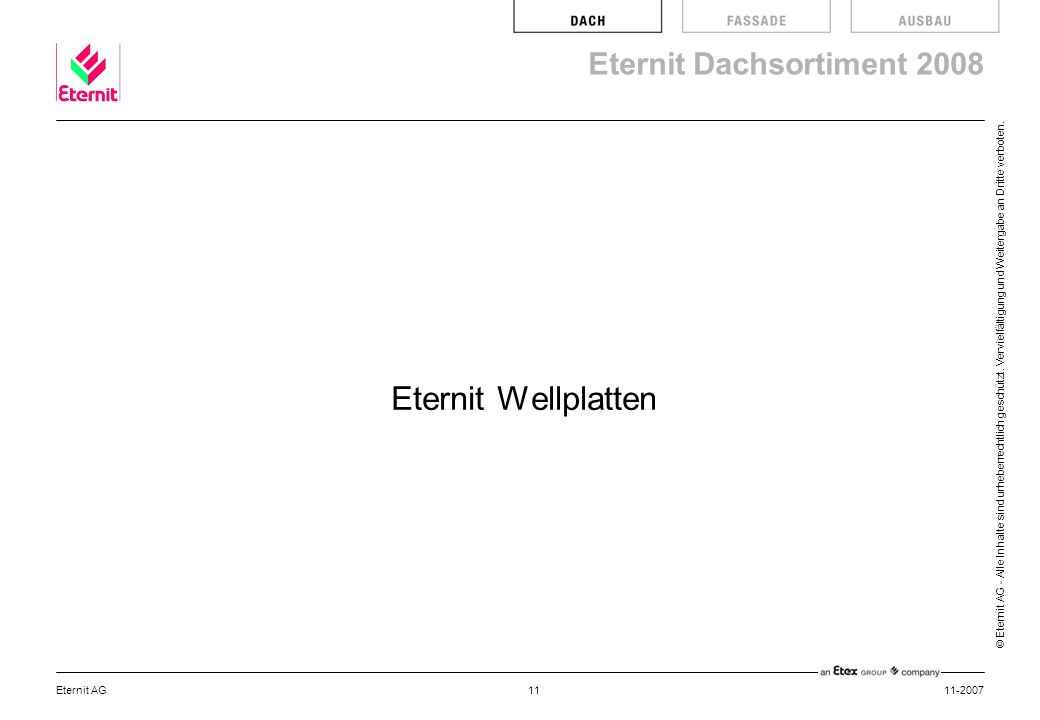 Eternit Wellplatten Eternit AG 11-2007