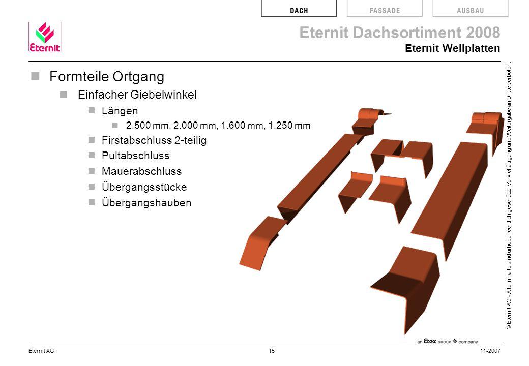Formteile Ortgang Einfacher Giebelwinkel Eternit Wellplatten Längen