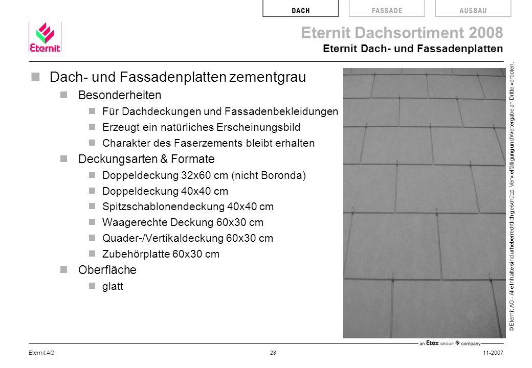 Eternit Dach- und Fassadenplatten