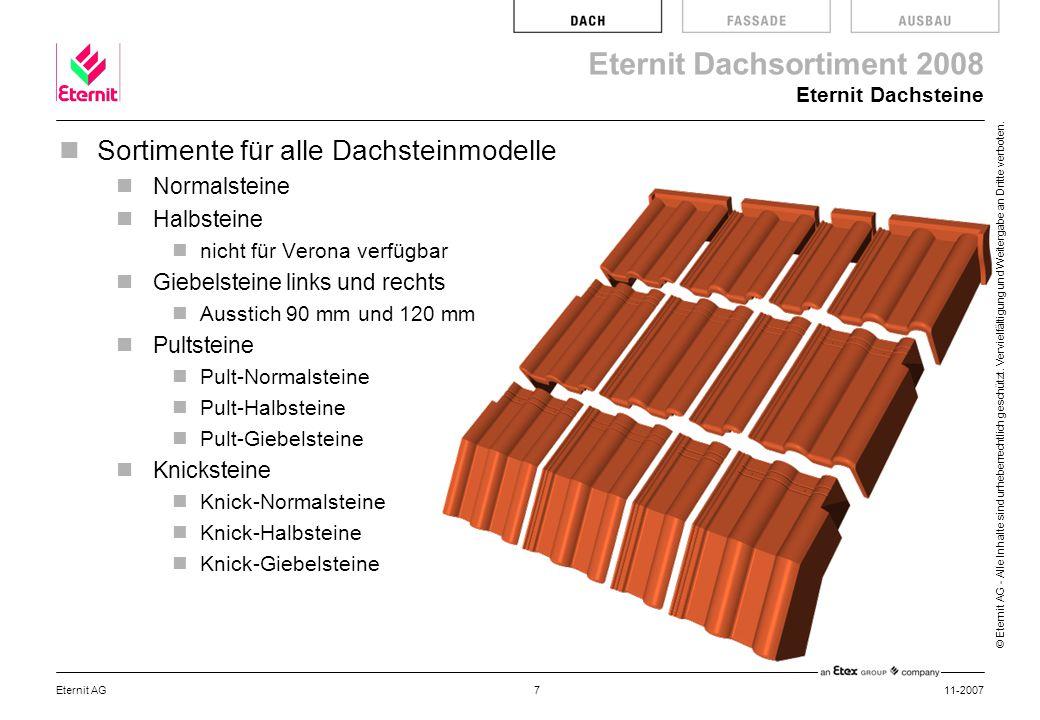 Sortimente für alle Dachsteinmodelle