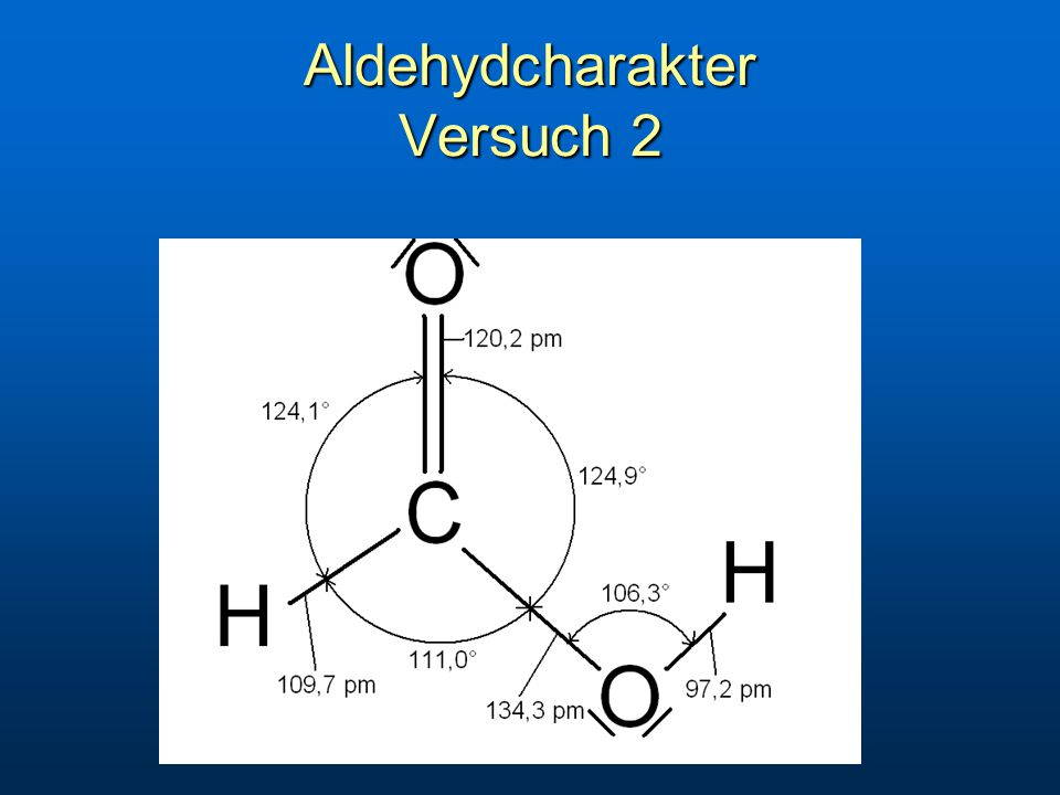 Aldehydcharakter Versuch 2