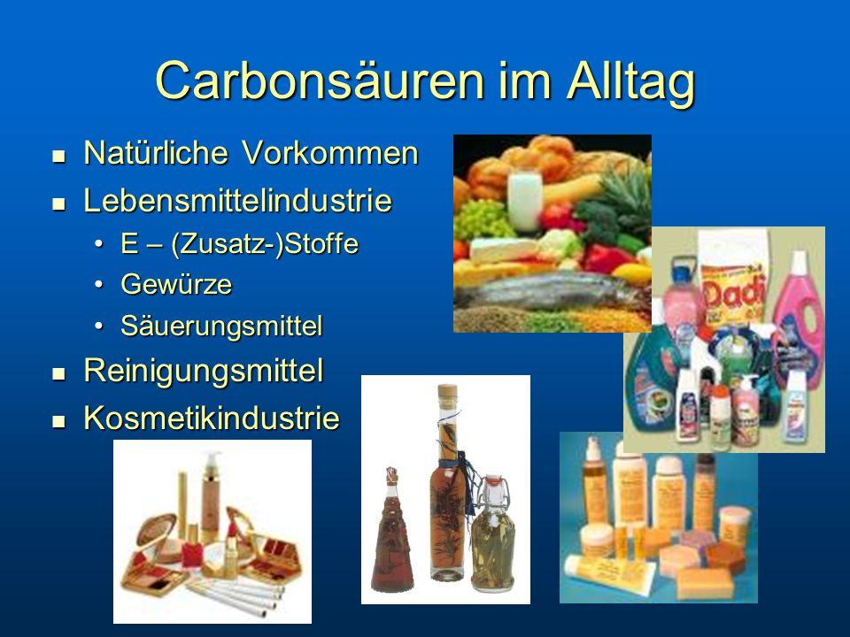 Carbonsäuren im Alltag
