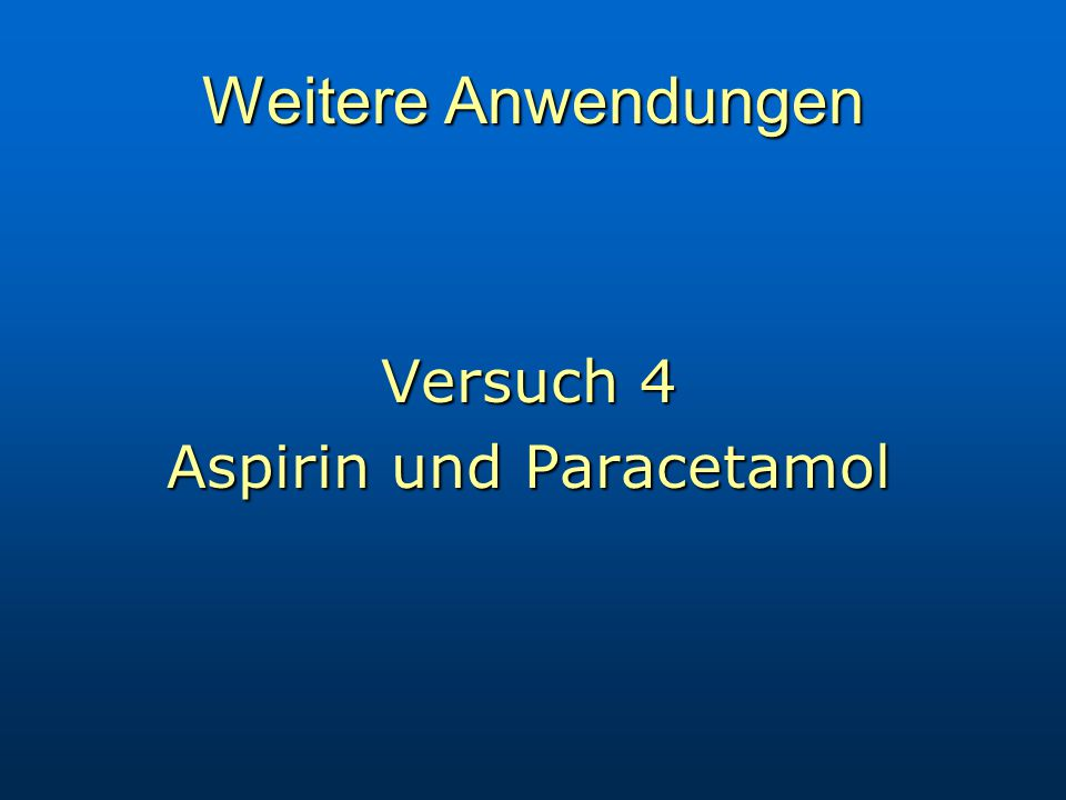 Aspirin und Paracetamol