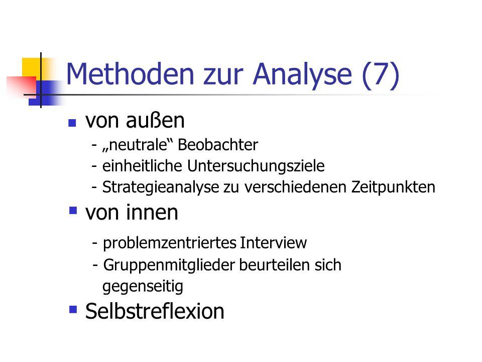 Methoden zur Analyse (7)