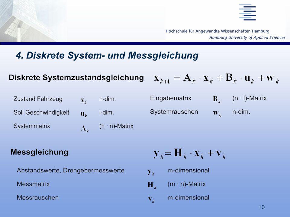 4. Diskrete System- und Messgleichung