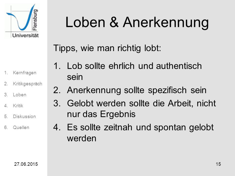 Loben & Anerkennung Tipps, wie man richtig lobt: