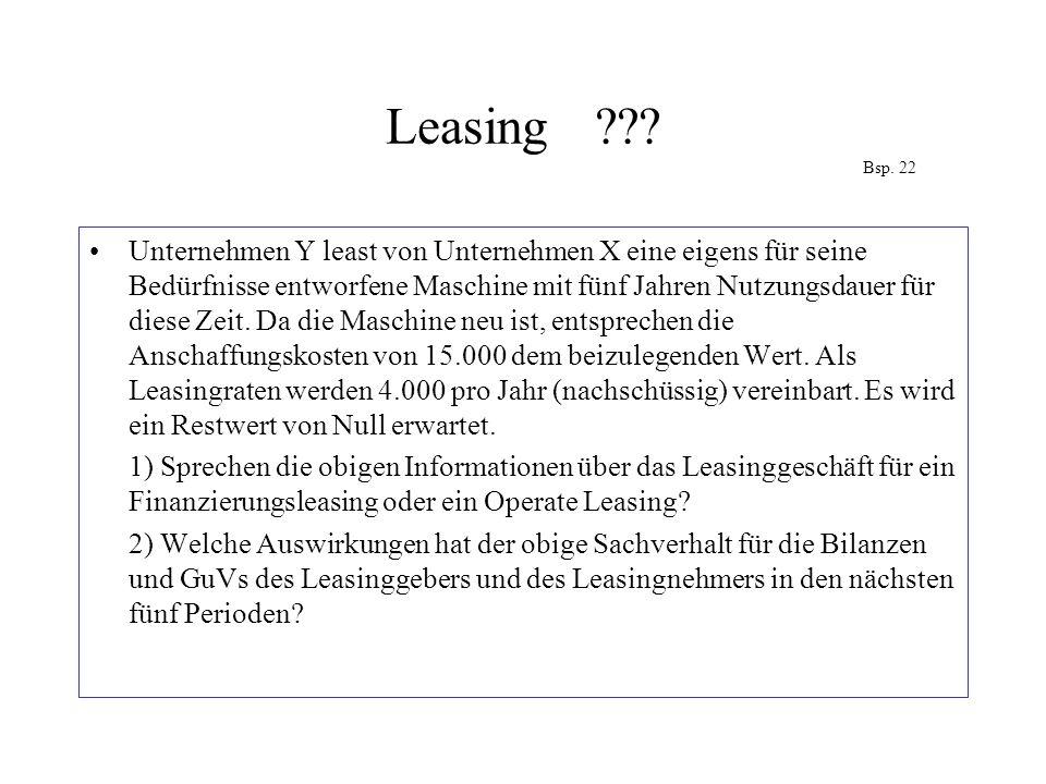 Leasing Bsp. 22