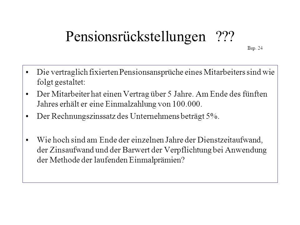 Pensionsrückstellungen Bsp. 24
