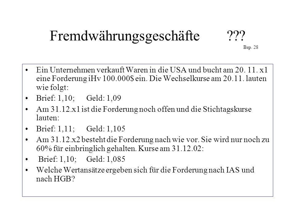 Fremdwährungsgeschäfte Bsp. 28