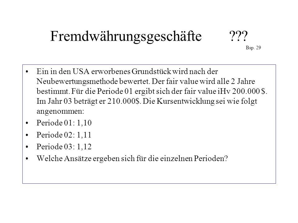 Fremdwährungsgeschäfte Bsp. 29