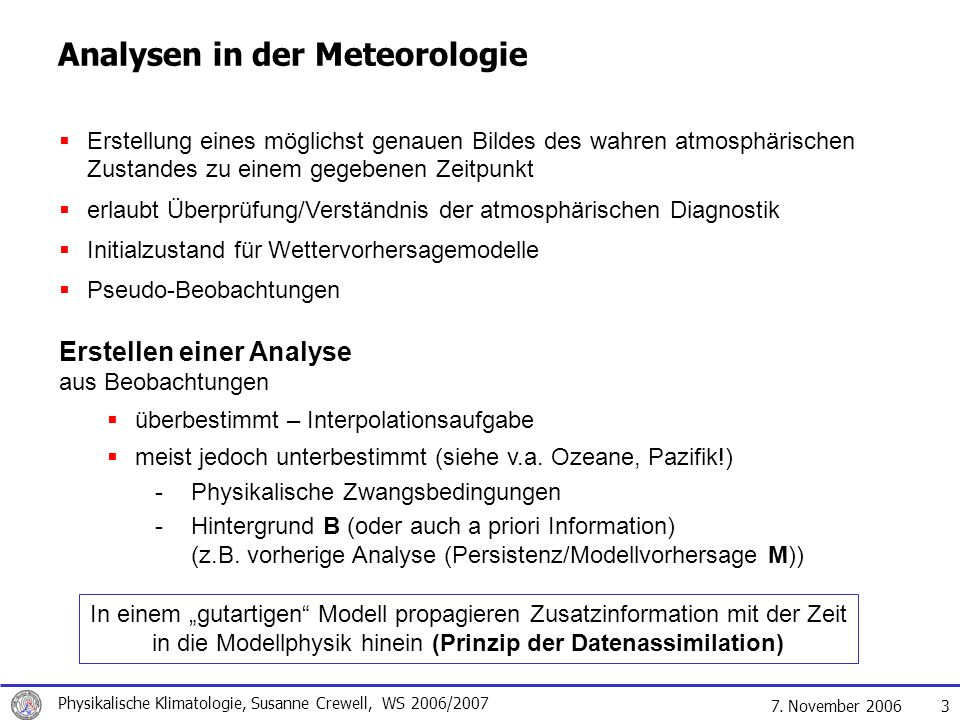 Analysen in der Meteorologie