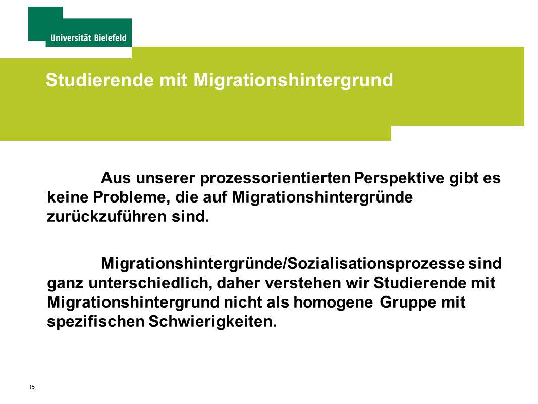 Studierende mit Migrationshintergrund