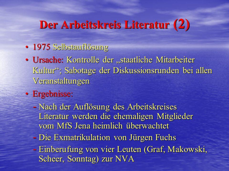 Der Arbeitskreis Literatur (2)