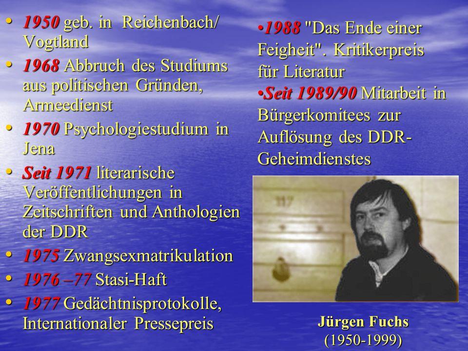 1950 geb. in Reichenbach/ Vogtland