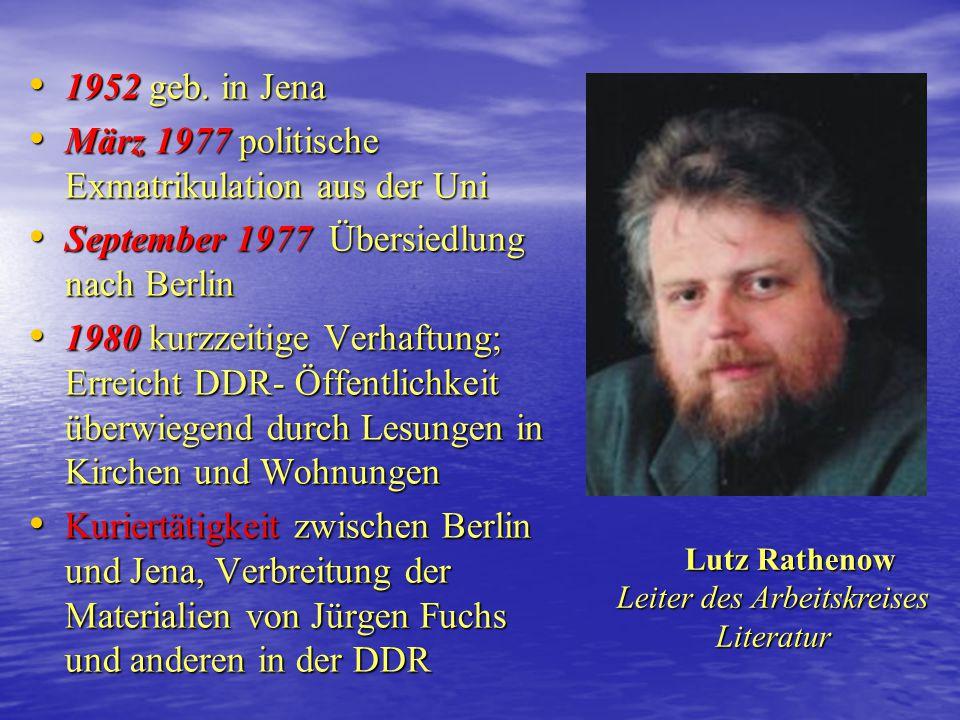 Leiter des Arbeitskreises Literatur