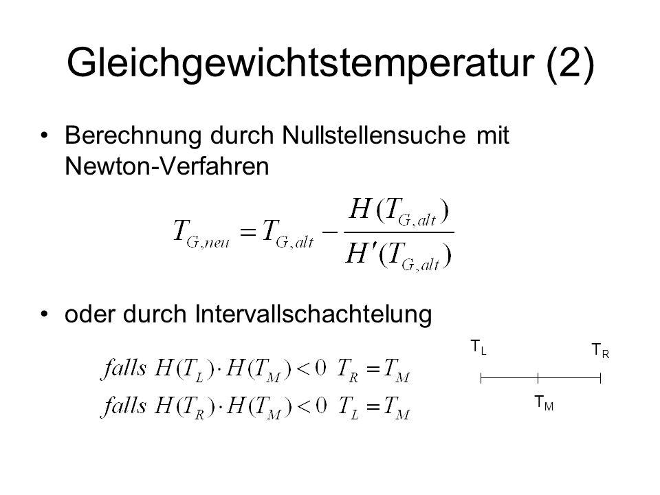 Gleichgewichtstemperatur (2)