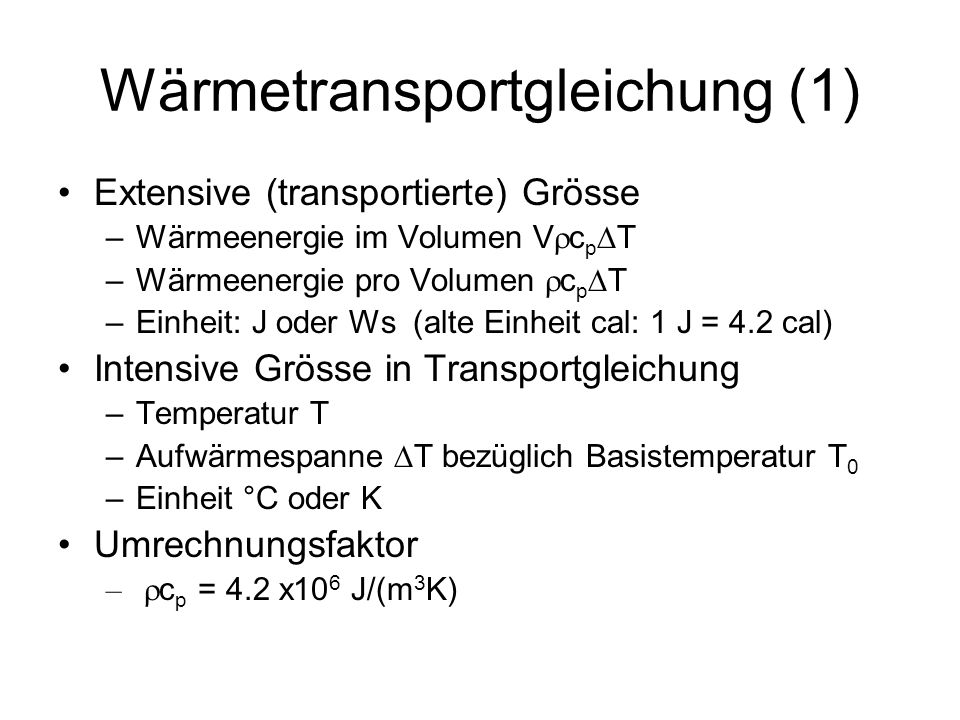 Wärmetransportgleichung (1)