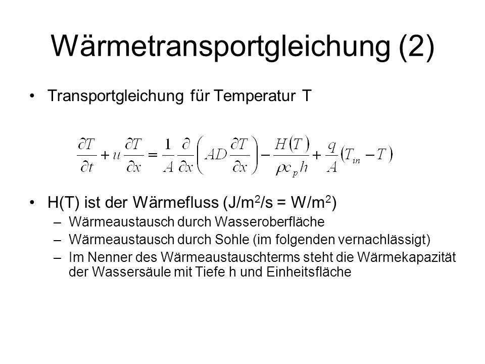 Wärmetransportgleichung (2)