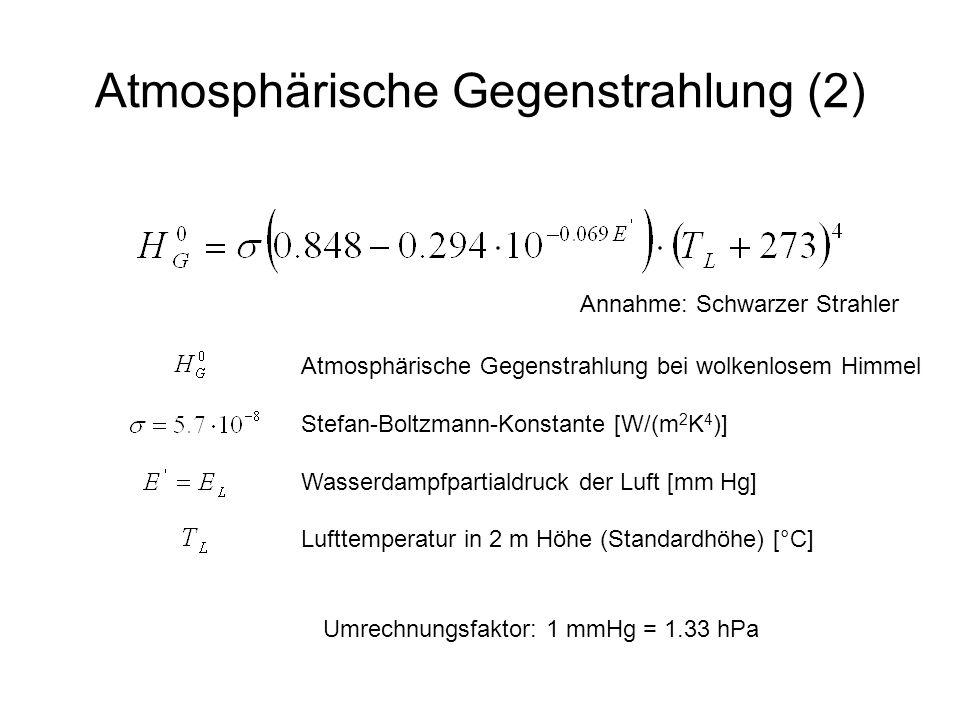 Atmosphärische Gegenstrahlung (2)