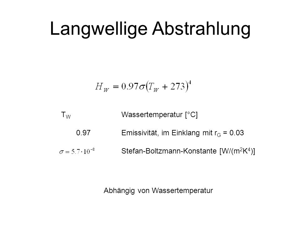 Langwellige Abstrahlung