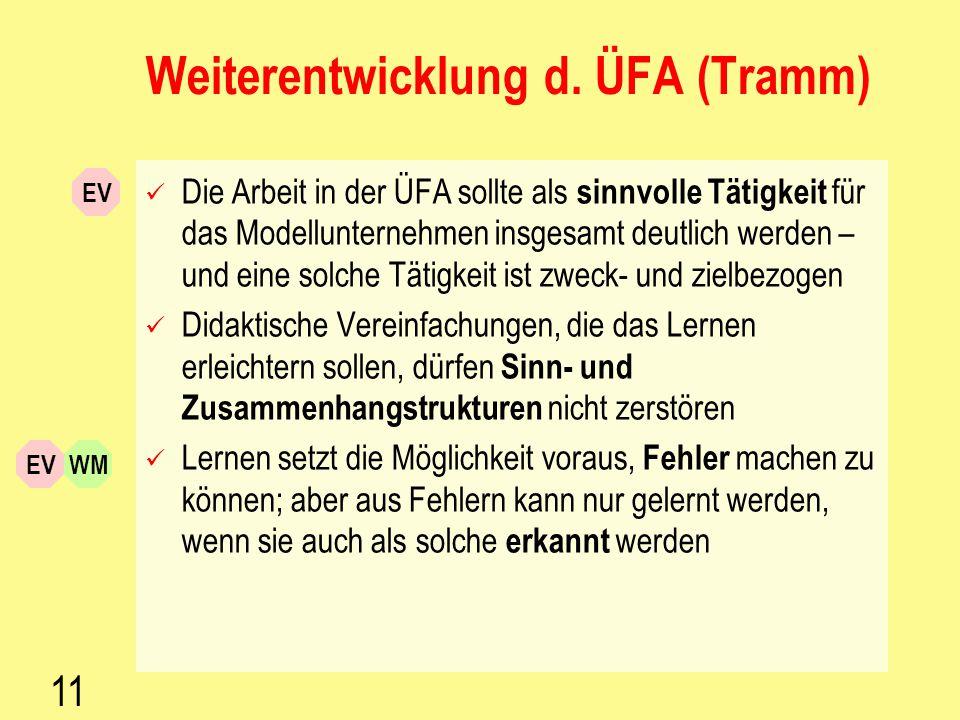 Weiterentwicklung d. ÜFA (Tramm)
