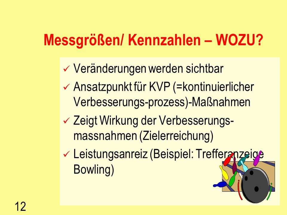 Messgrößen/ Kennzahlen – WOZU